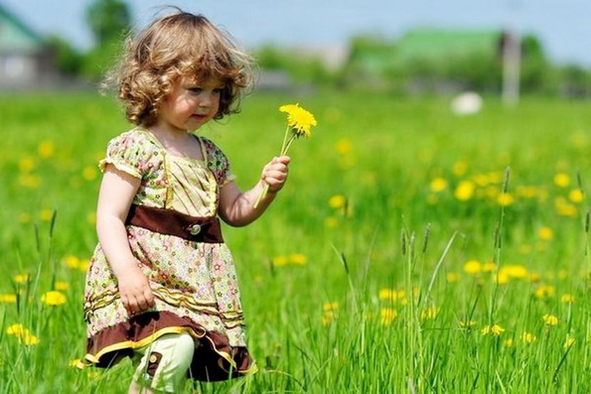 фото дівчинка в квітучому полі